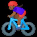 Emoji: 🚴🏾♀️ Android Oreo; U+1F6B4 U+1F3FE U+200D U+2640 U+FE0F