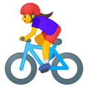 Android Oreo; U+1F6B4 U+200D U+2640 U+FE0F; Emoji