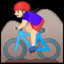 Emoji: 🚵🏻♀️ Android Oreo; U+1F6B5 U+1F3FB U+200D U+2640 U+FE0F