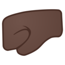 Emoji: 🤛🏿 Android Oreo; U+1F91B U+1F3FF