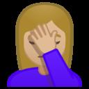 Emoji: 🤦🏼♀️ Android Oreo; U+1F926 U+1F3FC U+200D U+2640 U+FE0F