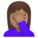Android Oreo; U+1F926 U+1F3FD U+200D U+2640 U+FE0F; Emoji