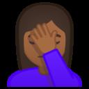 Emoji: 🤦🏾♀️ Android Oreo; U+1F926 U+1F3FE U+200D U+2640 U+FE0F