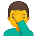 Android Oreo; U+1F926 U+200D U+2642 U+FE0F; Emoji