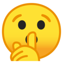 Android Oreo; U+1F92B; Pst!, Sei-still!-Smiley Emoji