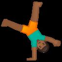Emoji: 🤸🏾 Android Oreo; U+1F938 U+1F3FE