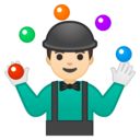 Android Oreo; U+1F939 U+1F3FB; Emoji