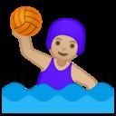 Android Oreo; U+1F93D U+1F3FC U+200D U+2640 U+FE0F; Emoji