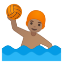 Emoji: 🤽🏽♂️ Android Oreo; U+1F93D U+1F3FD U+200D U+2642 U+FE0F
