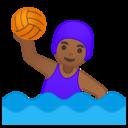 Emoji: 🤽🏾♀️ Android Oreo; U+1F93D U+1F3FE U+200D U+2640 U+FE0F