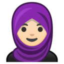 🧕🏻 Woman With Headscarf: Light Skin Tone