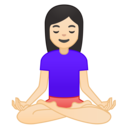 🧘🏻‍♀️ Woman In Lotus Position: Light Skin Tone
