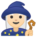 Emoji: 🧙🏻♀️ Android Oreo; U+1F9D9 U+1F3FB U+200D U+2640 U+FE0F
