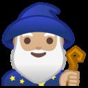 Android Oreo; U+1F9D9 U+1F3FC U+200D U+2642 U+FE0F; Magicien: Peau 2 Emoji
