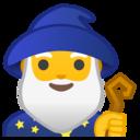 Android Oreo; U+1F9D9 U+200D U+2642 U+FE0F; Magicien Emoji