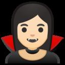 Emoji: 🧛🏻♀️ Android Oreo; U+1F9DB U+1F3FB U+200D U+2640 U+FE0F