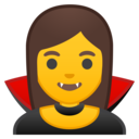 Android Oreo; U+1F9DB U+200D U+2640 U+FE0F; Femme Vampire Emoji