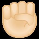 Android Oreo; U+270A U+1F3FB; Emoji