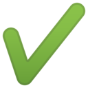 Android Oreo; U+2714 U+FE0F; Emoji