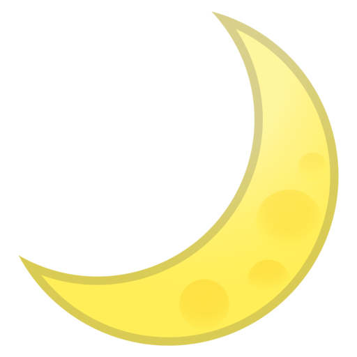 yellow moon emoji - photo #25