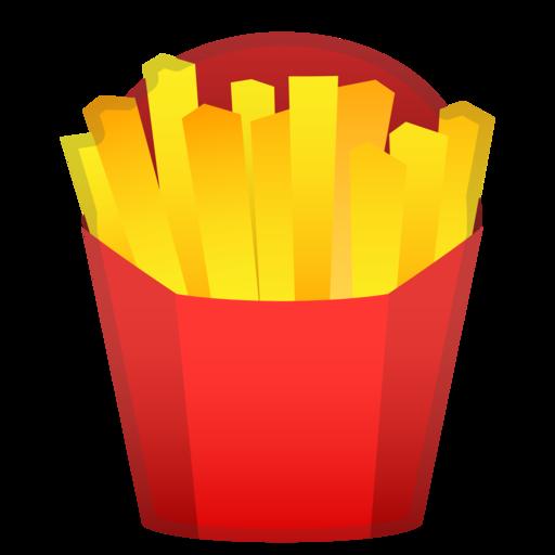 Pommes Frites on Transparent Emoji Food
