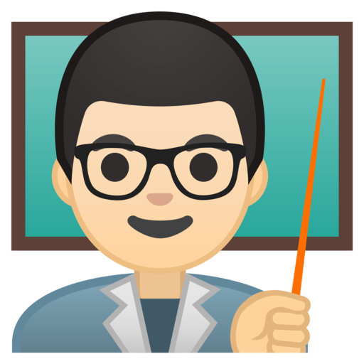 👨🏻🏫 Docente Hombre: Tono De Piel Claro Emoji