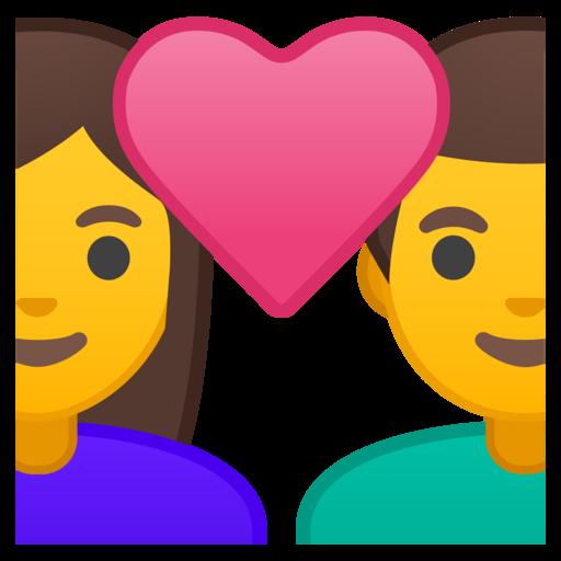 Hombre Y Mujer Enamorados Emoji