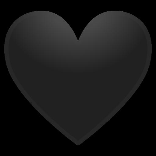 Bien-aimé 🖤 Black Heart Emoji GG62