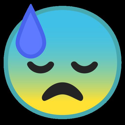 Cara Con Sudor Frío Emoji