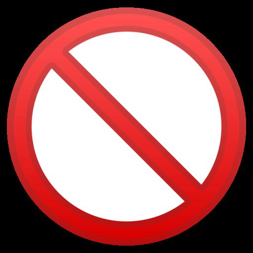 Risultati immagini per emoticons divieto