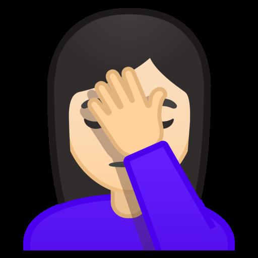 persona con la mano en la frente tono de piel claro emoji emotion clip art free downloads emotion clip art images