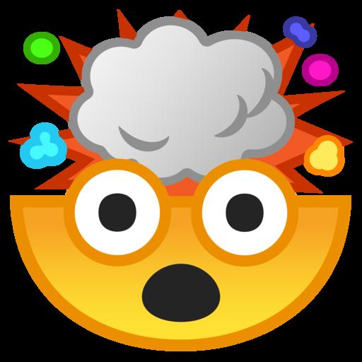 Image result for brain exploding emoji