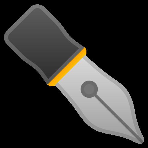 Stylo Plume Noir Emoji