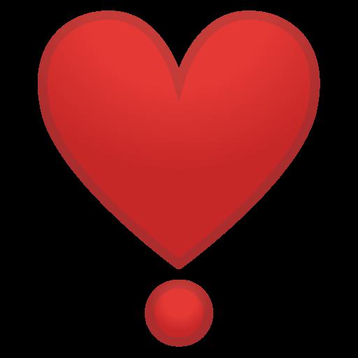 Célèbre ❣ Cœur Point D'Exclamation Emoji CV47