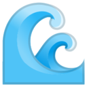 Android Pie; U+1F30A; Emoji