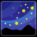 Android Pie; U+1F30C; Emoji