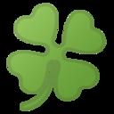 Android Pie; U+1F340; {[Ich wünsche dir ganz viel Glück!][Heute ist mein Glückstag!][Viel Glück bei deiner Prüfung!]} Emoji