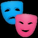 Android Pie; U+1F3AD; Emoji