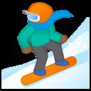 Android Pie; U+1F3C2 U+1F3FE; Emoji