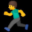 Android Pie; U+1F3C3; Emoji