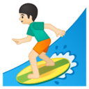 Android Pie; U+1F3C4 U+1F3FB U+200D U+2642 U+FE0F; Emoji