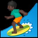 Android Pie; U+1F3C4 U+1F3FF; Emoji