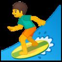 Android Pie; U+1F3C4; Emoji