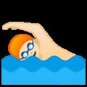 Android Pie; U+1F3CA U+1F3FB; Emoji