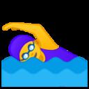 Android Pie; U+1F3CA U+200D U+2640 U+FE0F; Emoji