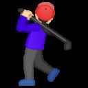 Android Pie; U+1F3CC U+1F3FB U+200D U+2640 U+FE0F; Emoji