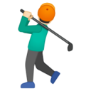 Android Pie; U+1F3CC U+1F3FB U+200D U+2642 U+FE0F; Emoji
