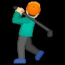 Android Pie; U+1F3CC U+1F3FB; Emoji