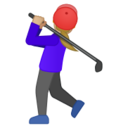 Android Pie; U+1F3CC U+1F3FC U+200D U+2640 U+FE0F; Emoji