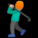 Android Pie; U+1F3CC U+1F3FC; Emoji